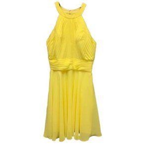 Allure Bridals Bridesmaid Lemon Yellow Dress 16